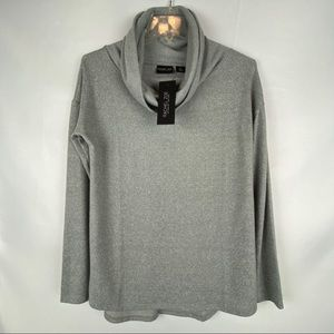 Rachel Zoe Sweater S Cowl Neck Gray Soft NEW